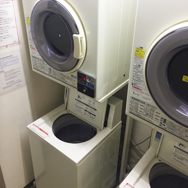 3 washing machines and 3 dryers are placed on 8th floor