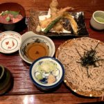 Tempra Soba Gozen (a set of soba with deep fried shrimps and vegetables)